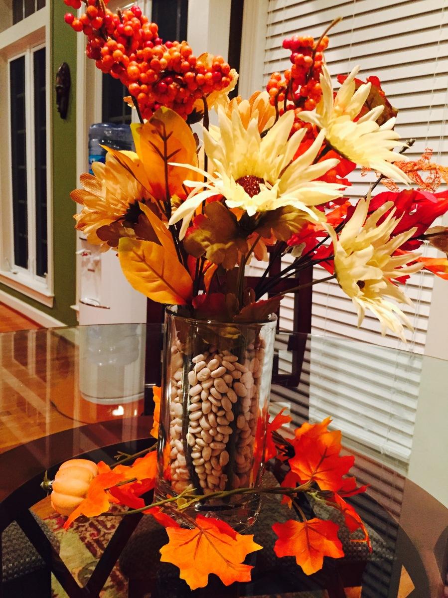 Fall decor centerpiece