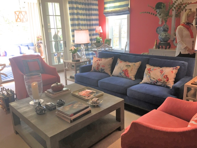 Kelley Interior Design Coral Family Room