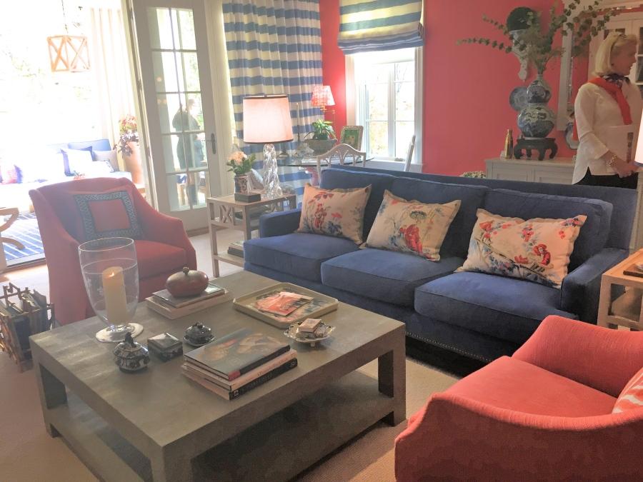 Kelley Interior Design Coral Family Room